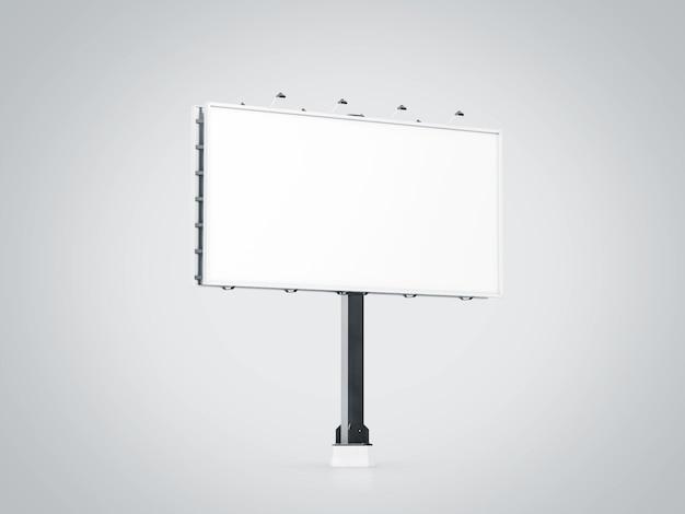 市の看板に空白の白い旗