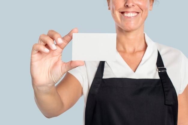 Presentazione formale del biglietto da visita bianco vuoto