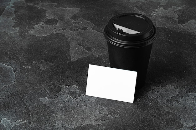 Blank white business card with copy space for your design