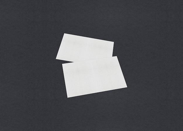빈 흰색 명함