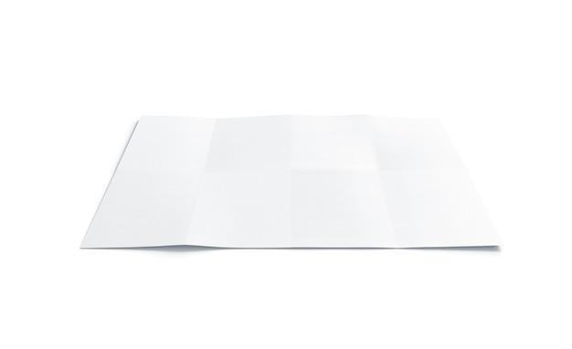 Пустой белый буклет диаграммы, изолированный, 3d-рендеринг.