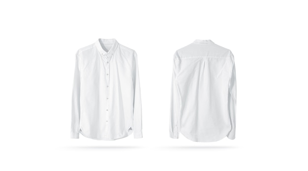 Blank white classic mens shirt isolated