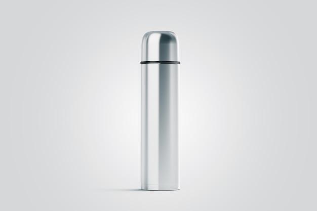 空白の白い閉じた旅行魔法瓶