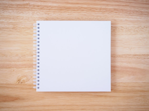 Blank white cover notebook