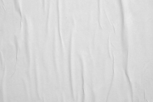 빈 흰색 구겨진 구겨진 종이 포스터 질감 배경
