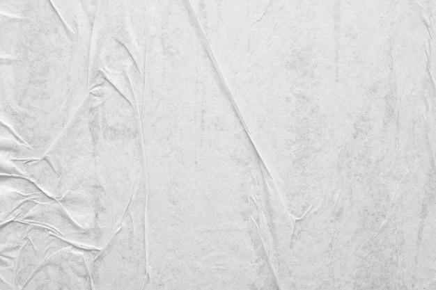 空白の白いしわくちゃにしわのある紙