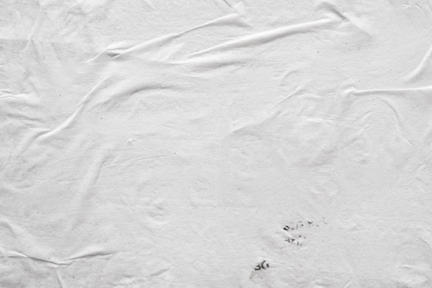 Blank white crumpled and creased paper texture background