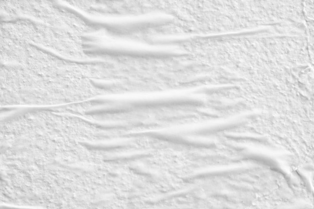 Blank white crumpled creased torn paper poster texture surface background