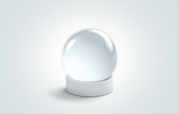 Blank white crystal magic ball
