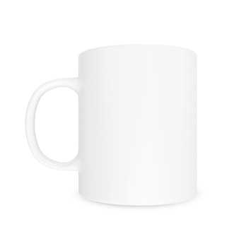 Blank white cup mockup isolated
