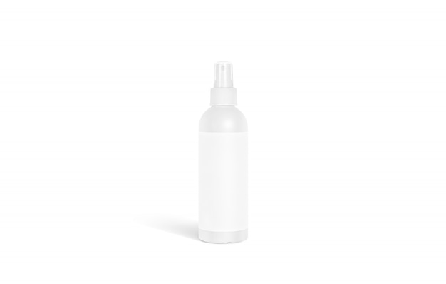 Blank white deodorant bottle  stand isolated