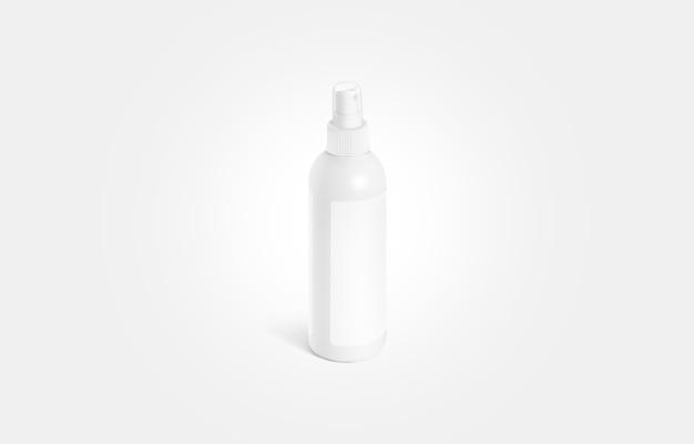 グレーに分離されたラベルのモックアップと空白の白い消臭ボトル