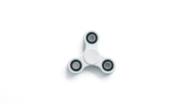 Blank white fidget spinner , top view