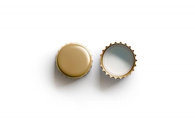Blank white golden beer lid