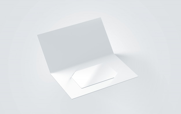 Blank white greeting card