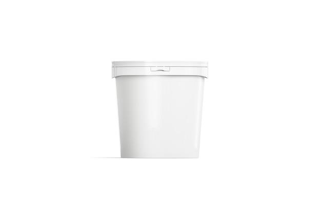 Пустое белое ведерко для мороженого, вид спереди