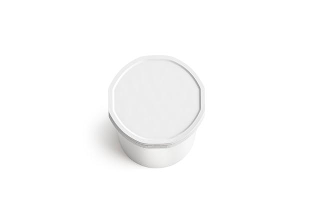 Пустое белое ведро для мороженого