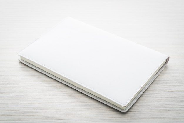 Blank white mock up book