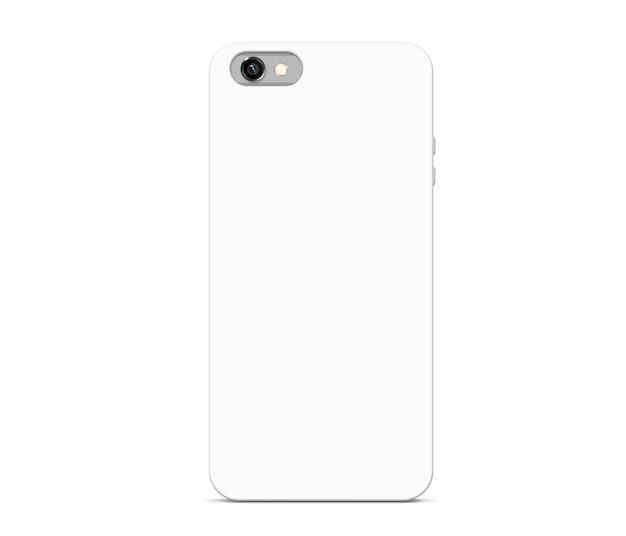 分離された空白の白い電話ケース