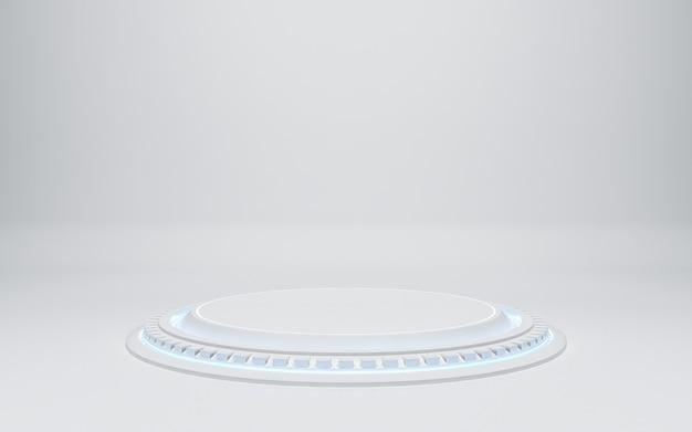 Blank white podium, 3d render