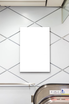 Blank white poster frame