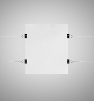 Blank white presentation board or sign mockup isolated on white background