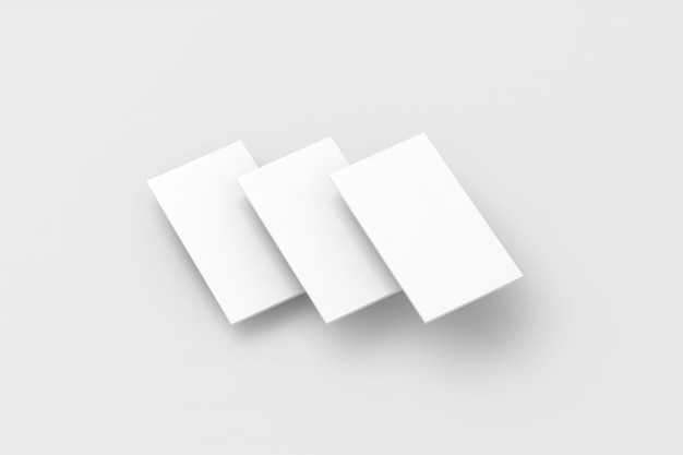 Blank white rectangles for phone screen web site design mockup