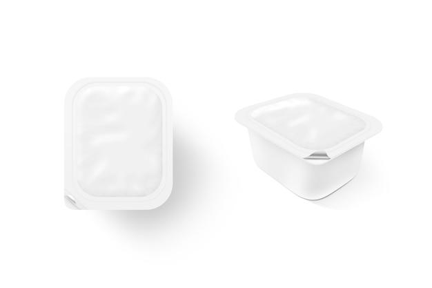 Пустая белая подставка для макета коробки соуса