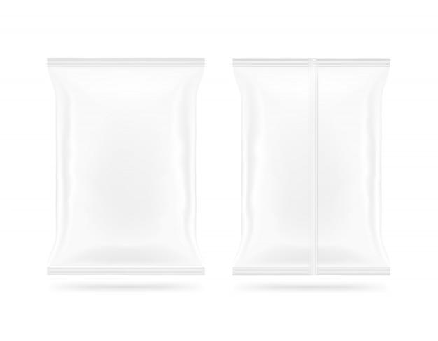 빈 흰색 스낵 가방