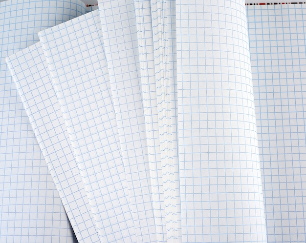 Blank white squared notebook paper sheet