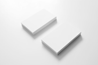 Blank white stacks of business cards