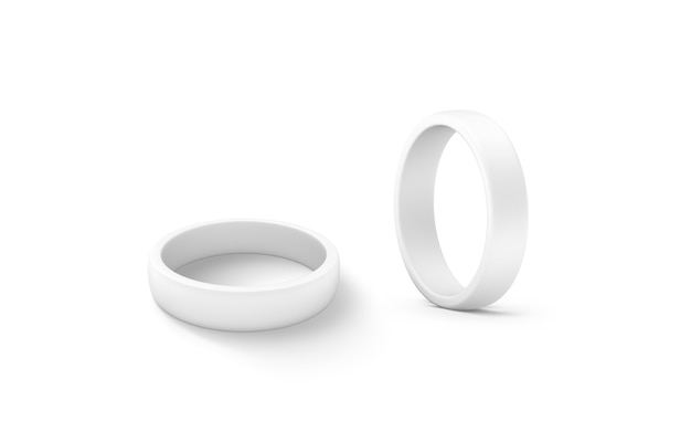 Blank white torus shape  set