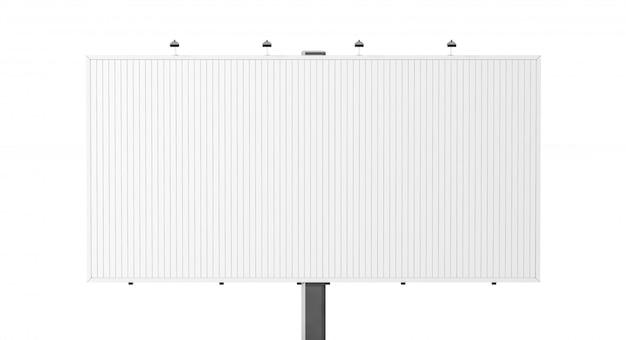 Blank white trivision billboard ,