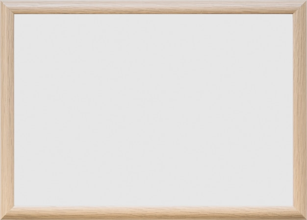 Blank whiteboard on plain background