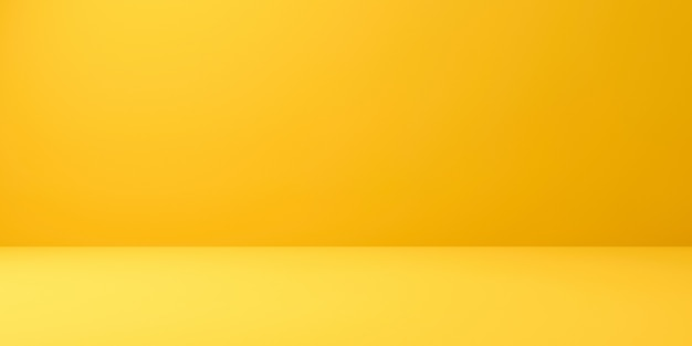 Blank yellow display on vivid summer background with minimal style. 3d rendering.