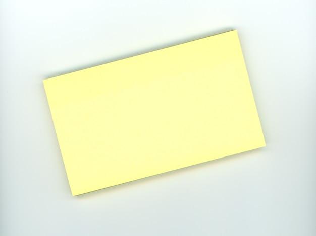 빈 노란색 스티커 메모