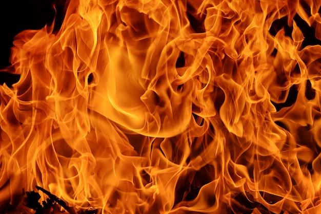 불꽃 화재 불꽃 배경 및 질감