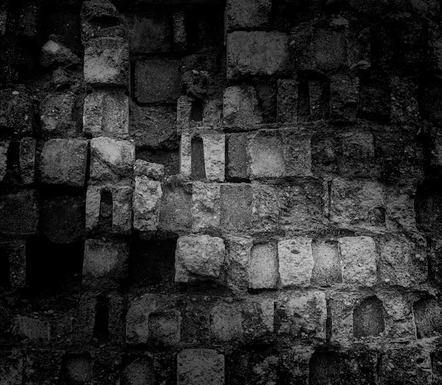 Blckレンガの壁の背景、