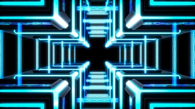 Block chain, modern sci fi technology background.