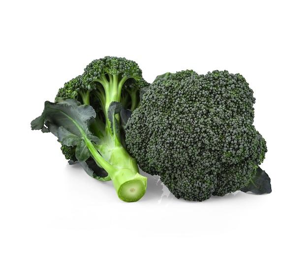 흰색 표면에 고립 된 자연에서 케리 건강 한 신선한 야채를 차단합니다.