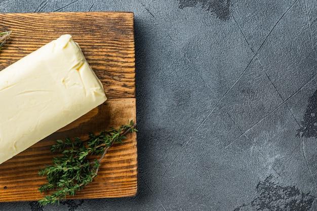 신선한 버터 블록, 회색