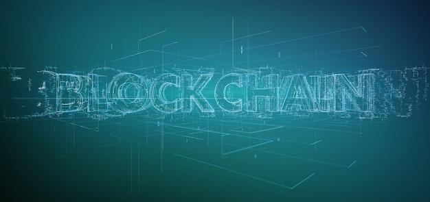 Blockchain title isolated on