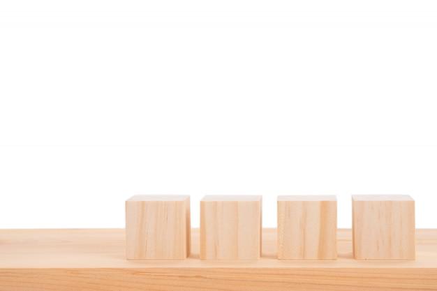 Блоки из дерева изолированы
