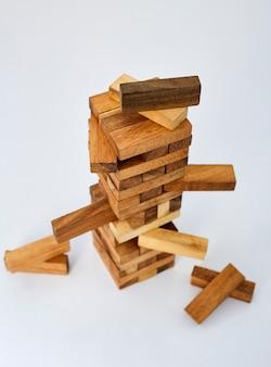 Blocks wood  on white  background