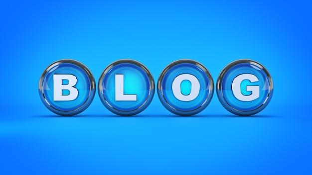 블로그 광택 아이콘 3d 렌더링