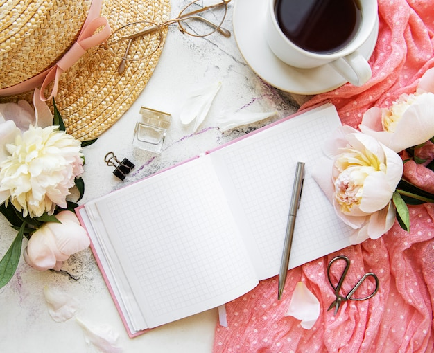 Blogger or freelancer workspace