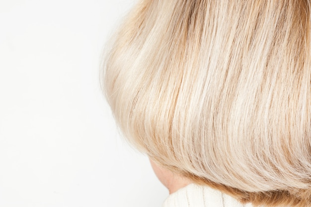 Blonde female hairstyle