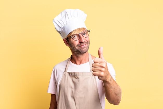 Блондинка красивый повар взрослый мужчина