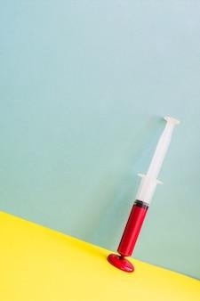 Blood in syringe