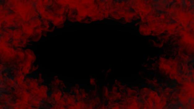검은 배경에 피